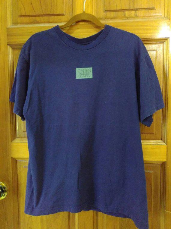 03d4b6927eda VINTAGE Designer CK Calvin Klein Jeans Made In Usa S/M sz T Shirt by  ArenaVintage