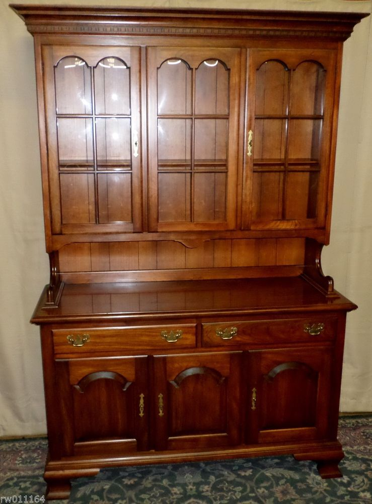 VINTAGE Pennsylvania House Independence Hall China Cabinet, Hutch W/Bubble  Glass #PennsylvaniaHouse