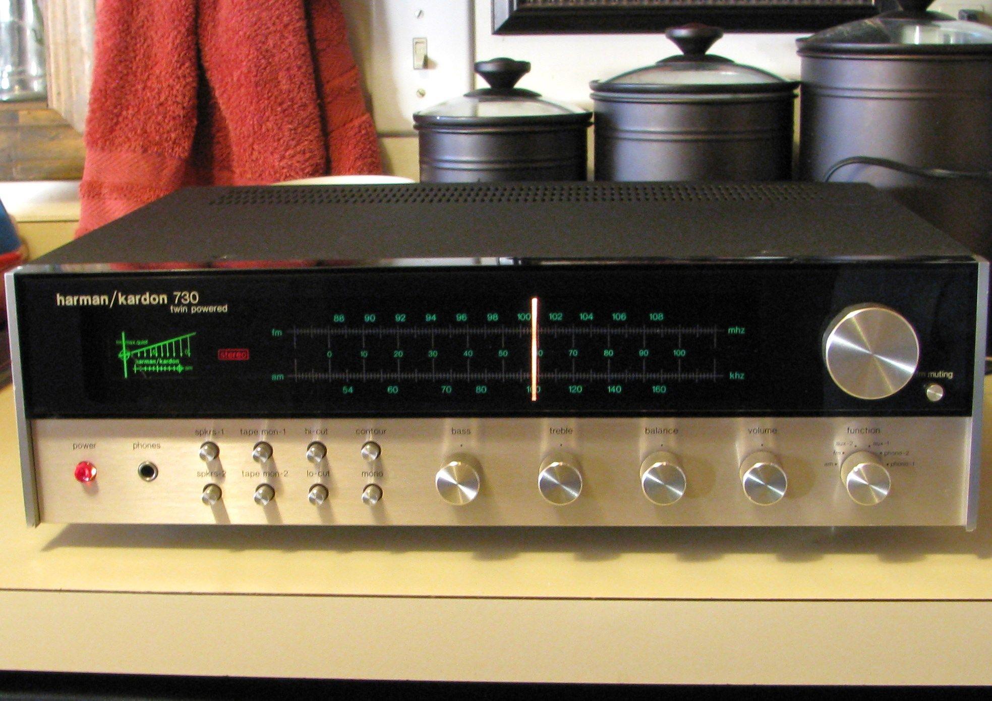 Harman kardon 730 amfm stereo receiver harman kardon