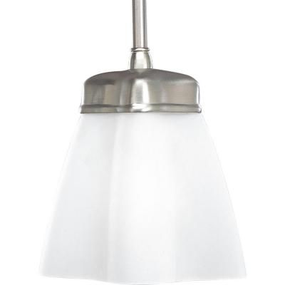 Progress Lighting Michael Graves Collection Brushed Nickel 1 Light Mini  Pendant P5072