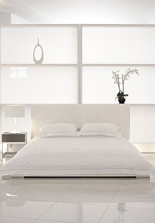 Wonderful White Interior Theme For Minimalist Look With Bed Matresses Modern BedroomsZen