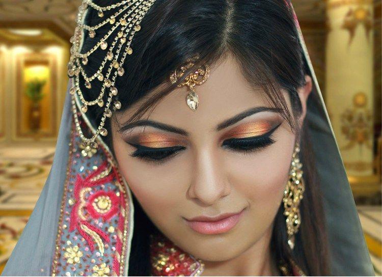Mehndi Eye Makeup Dailymotion : Pakistani indian reception makeup and hair tutorial video
