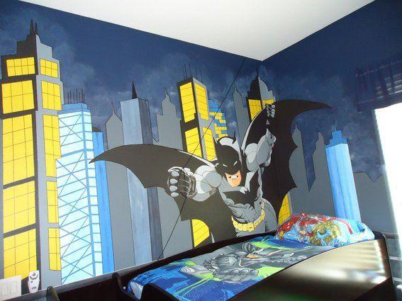 Batman Kinderzimmer ~ Custom painted wall mural by dana railey custommade #kidsroom