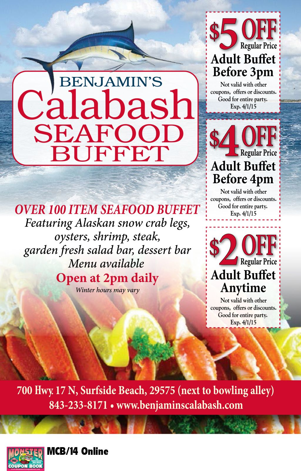 Excellent Benjamins Calabash Seafood Buffet Myrtle Beach Resorts Best Image Libraries Barepthycampuscom