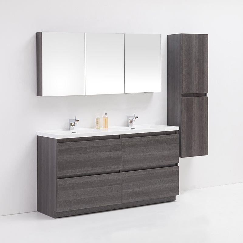 Shop Golden Elite BR60GO Brunswick 60-in Bathroom Vanity Set at