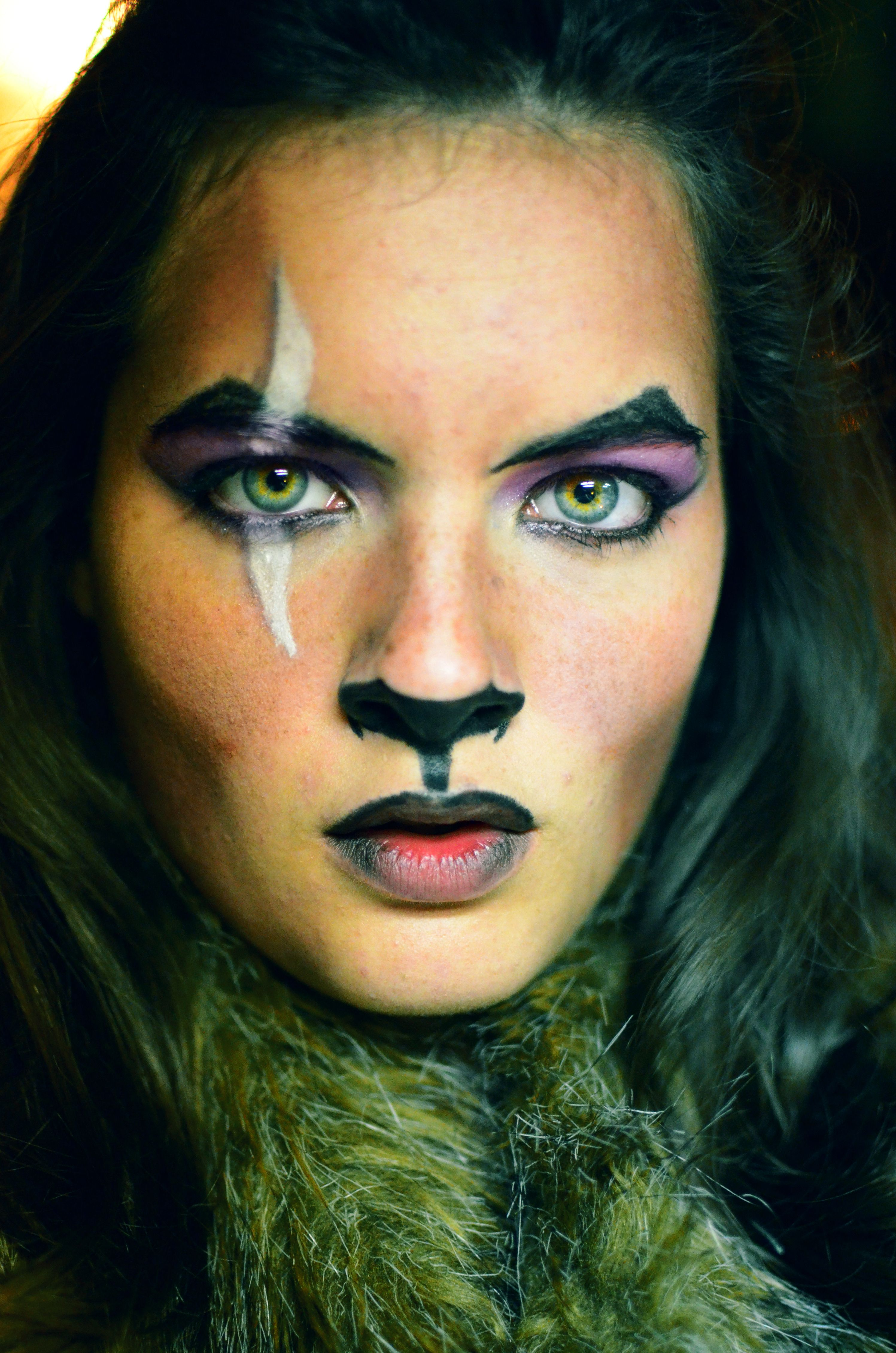 Lion King Scar inspired makeup scar makeup lionking
