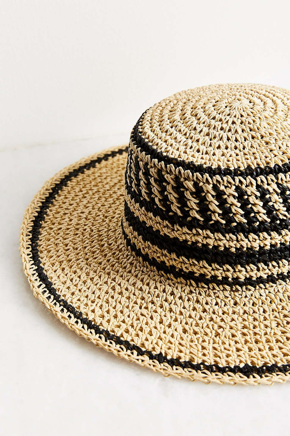 ffd9577ba5e Ecote Geo Straw Packable Boater Hat - Urban Outfitters