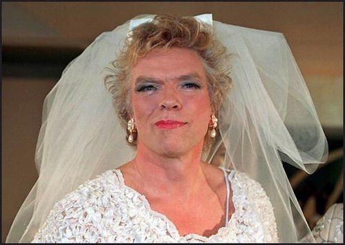 Richard Branson Sir Richard Branson Has Always Understood The Power Of A Good Picture Whether Donning A Wedding Dre Wedding Dresses Theme Dress Vegas Wedding