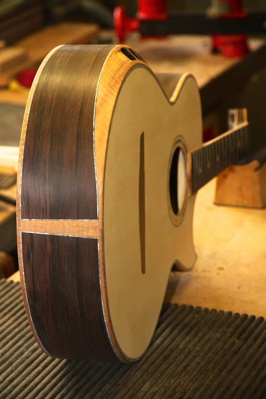 Build Thread Brazilian Rosewood Swiss Alpine Spruce Custom Design Crossover Acoustic Acoustic Guitar Acoustic Guitar Inlay