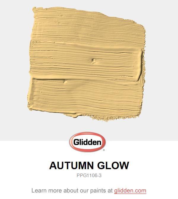 Autumn Glow Paint Color - Glidden Paint Colors | Glidden paint ...