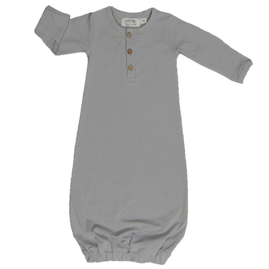 Organic newborn snuggle gown - stone grey | Lucy lue, Baby outfits ...