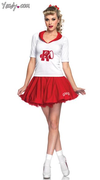 Cheerleader Grease Rydell High Costume - Time to cheer for your favorite movie high school- Rydell High! Grease Rydell High Cheerleader Adult Costume ...  sc 1 st  Pinterest & Rydell High Cheerleader Costume Grease Costume....Great Movie ...
