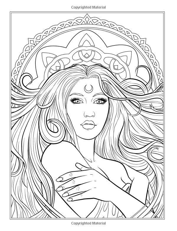 dark fantasy coloring pages - photo#27