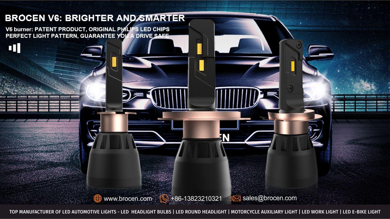 Brocen V6 LED HEADLIGHT BULB: Brighter and Smarter V6 Burner
