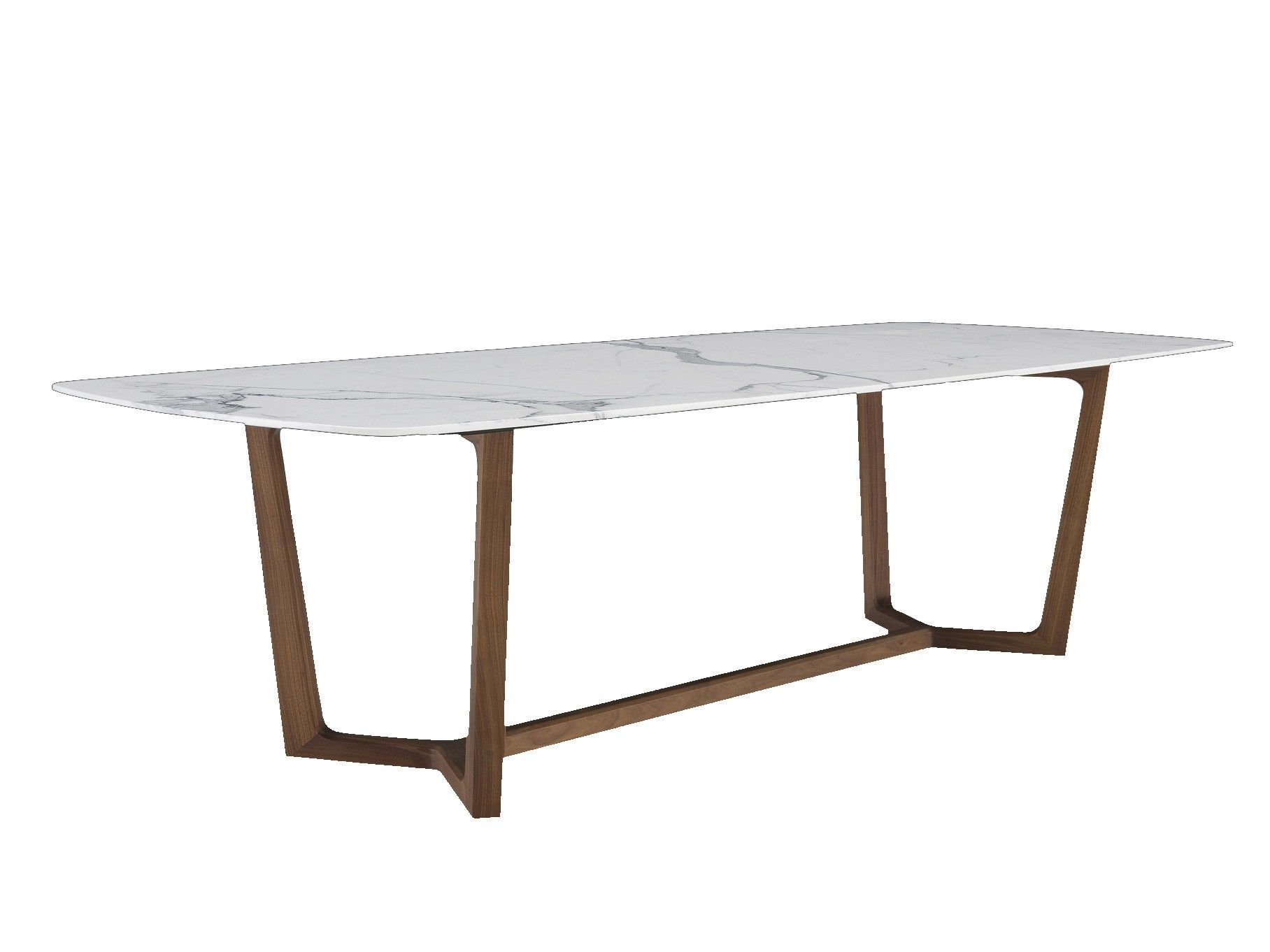 Modern Diningroom Furniture Ash Solid Wood Legs Marble Dining