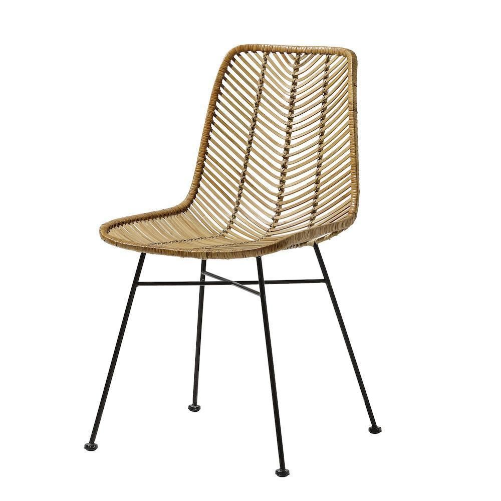 Lena Natural Rattan Dining Chair Rattan Dining Chairs Dining