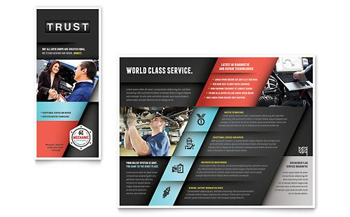 Auto Mechanic Brochure Template by @StockLayouts Brochure - calendar flyer template