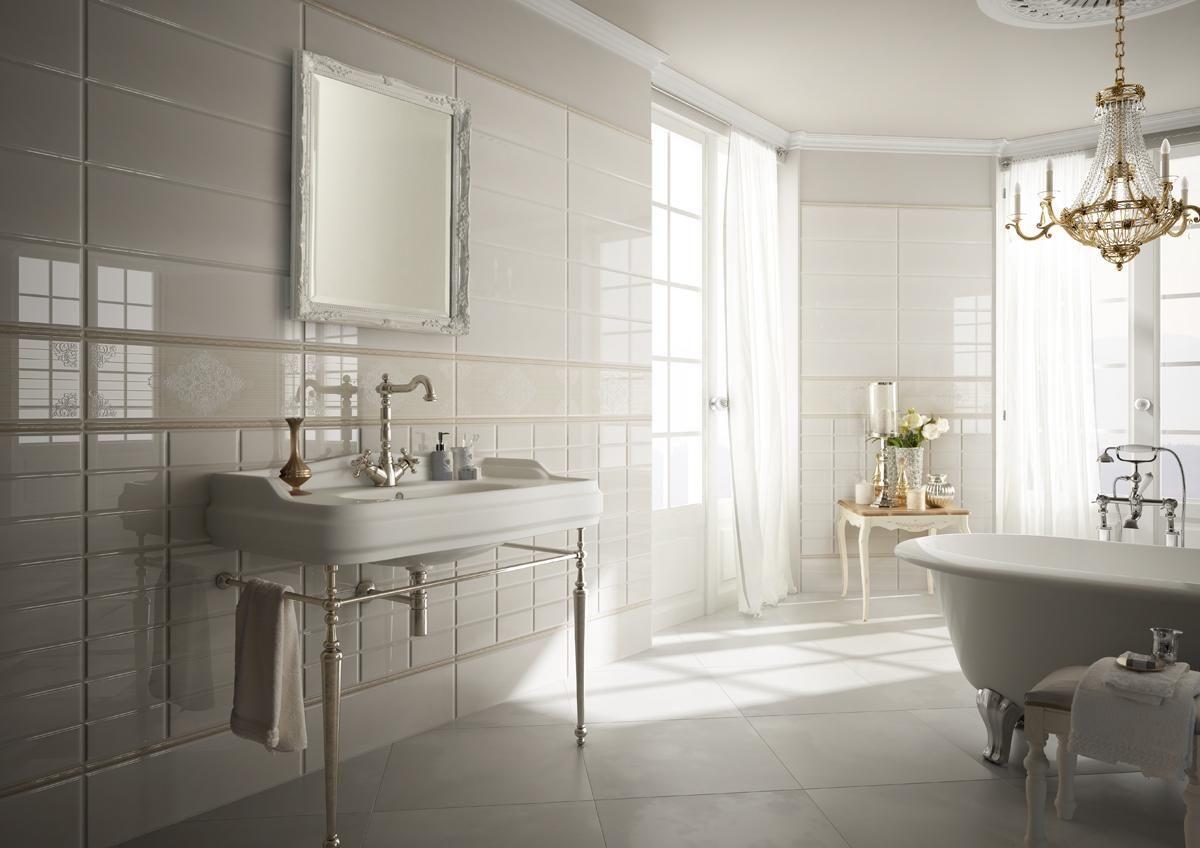 Piastrelle bagno classico piastrelle neoclassica bagno for Arredo bagno faenza