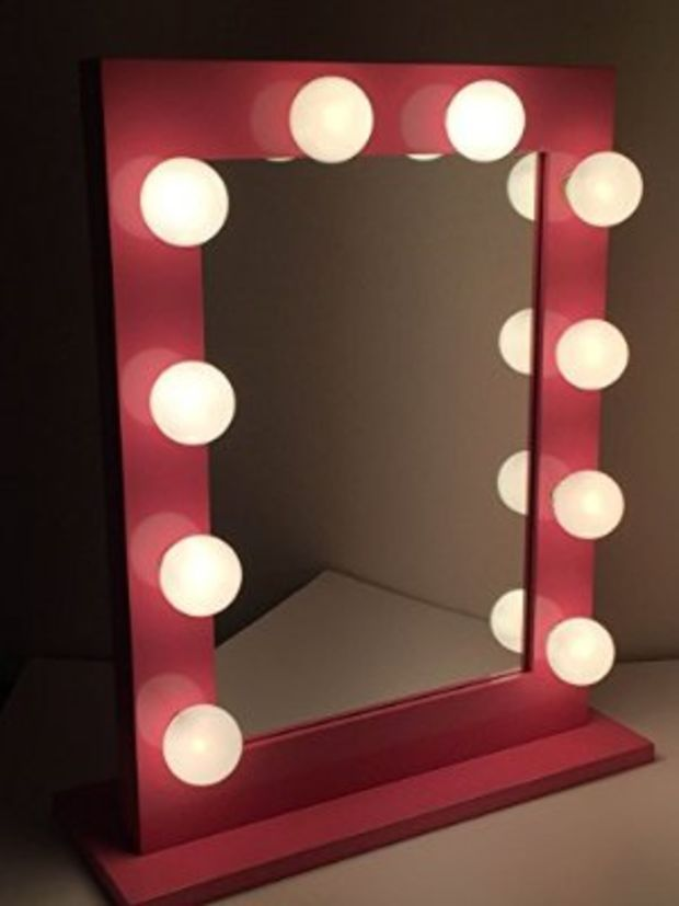 Chic Hollywood Lighted Make Up Vanity Back Stage Mirror