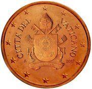 Vatican 1cent Vatikan Euromunzen Und Papst Franziskus