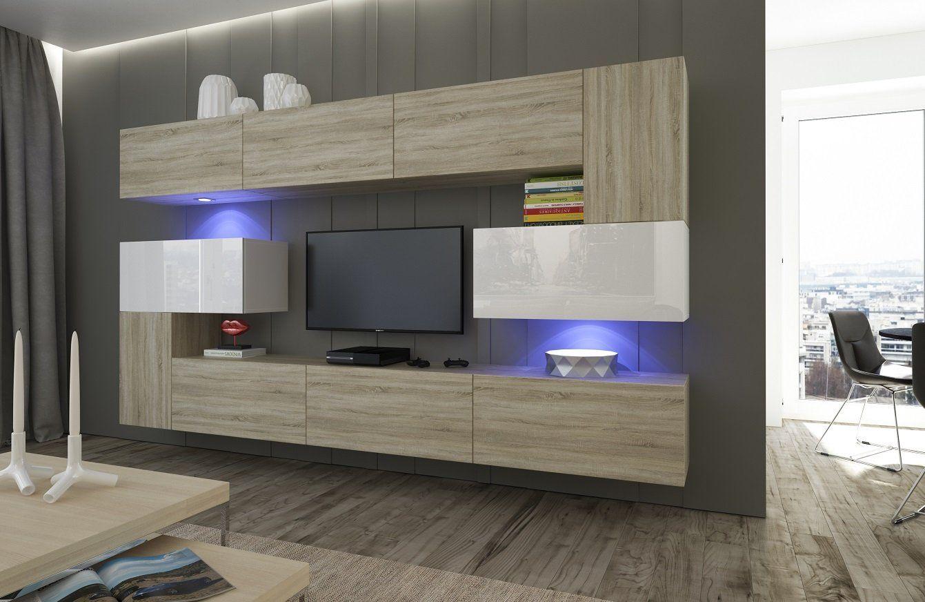 Home Direct Albania N15, Modernes Wohnzimmer, Wohnwände