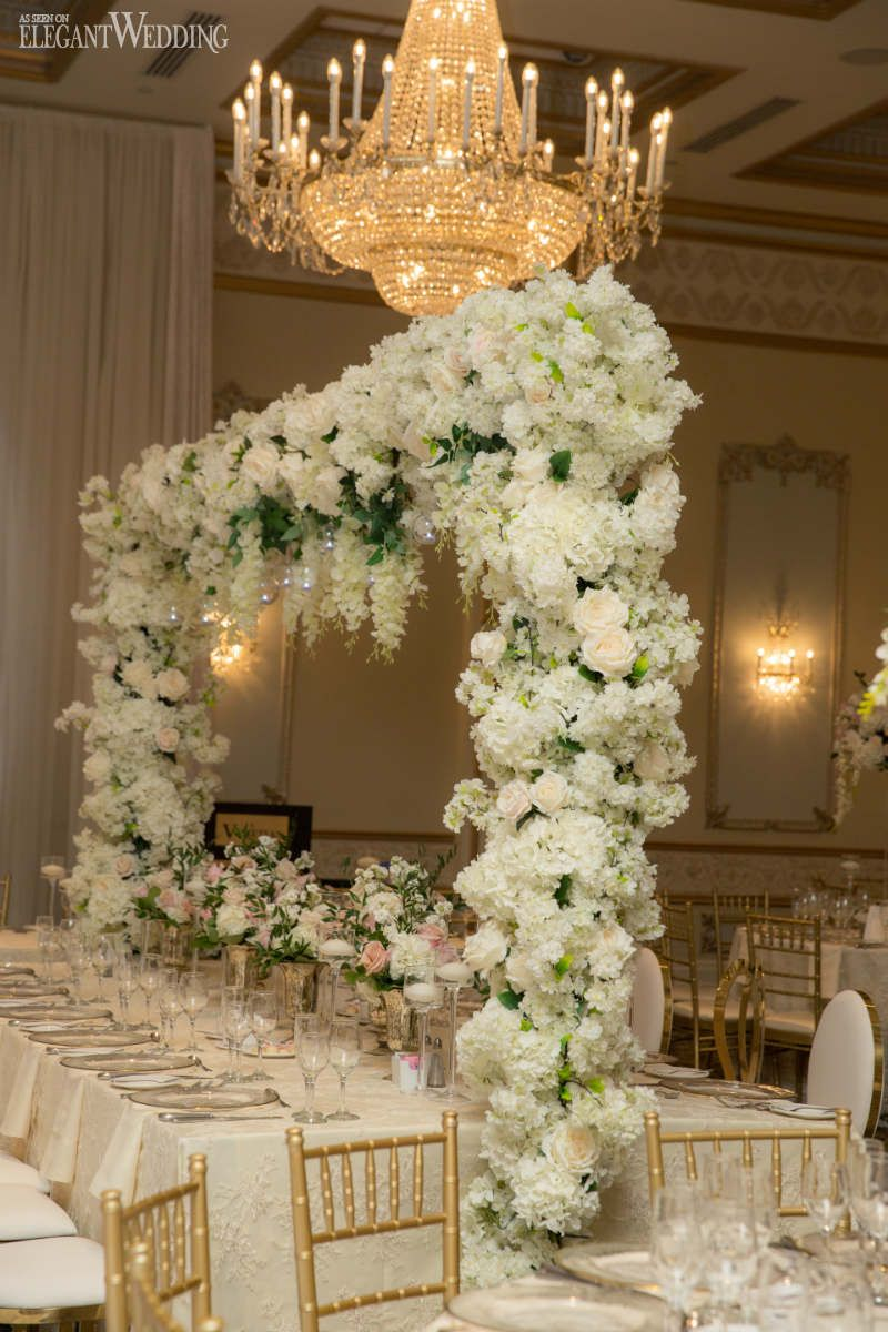 Wedding decorations luxury  White u Gold Luxury Wedding Inspiration  Centerpieces  Pinterest