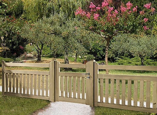 Low-level fences – Front garden fences, picket fences, gates, posts, lattice fences, post fences, fence panels, barriers, protective panels, paddock fences… • Braun & Würfele -   23 short garden fence