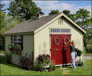 Sheds   Williamsburg Colonial Garden Shed