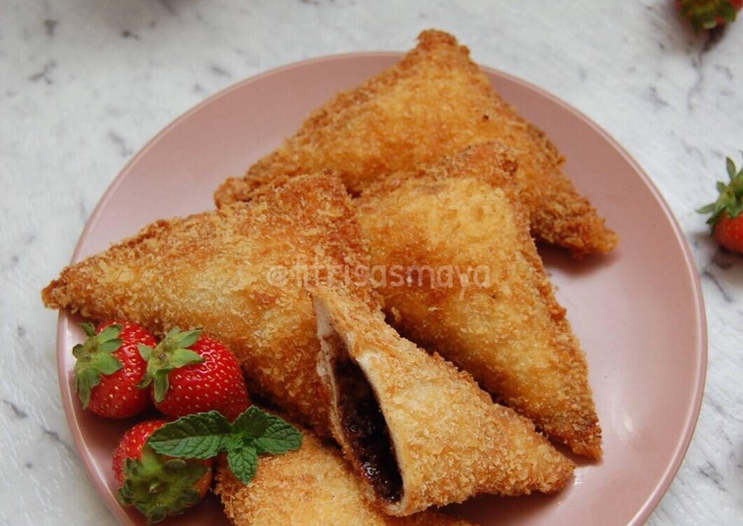 Resep Roti Tawar Goreng Isi Pisang Coklat Oleh Fitri Sasmaya Resep Roti Resep Pisang