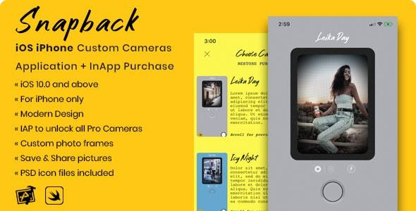 Snapback Is A Full Working Custom Cameras Application That Offers