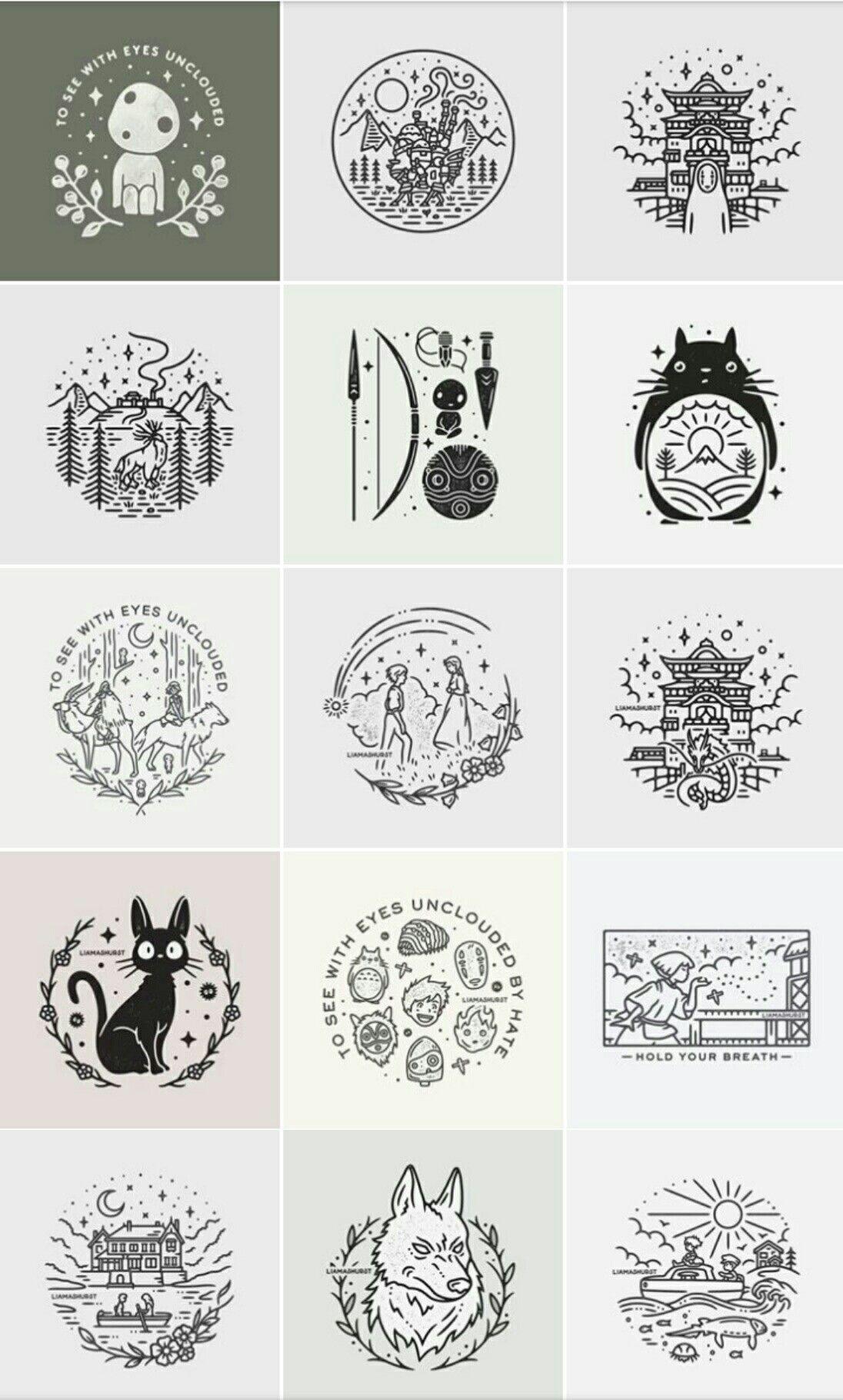 Photo of Studio Ghibli doodles by Liamashurst
