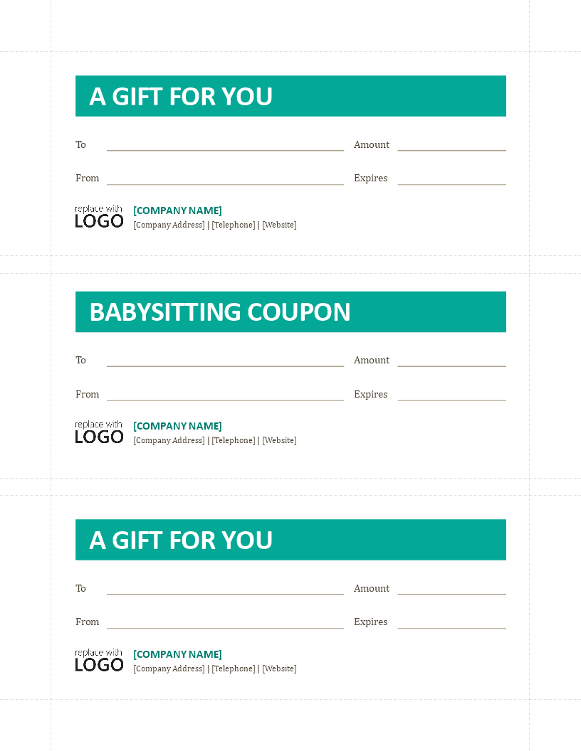 Babysitting Coupon Template Are You Looking For An Original Gift