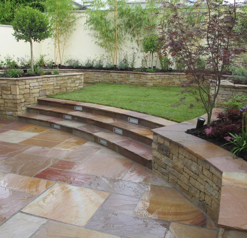 Split Level Garden Design   Owen Chubb Garden Landscapers ...