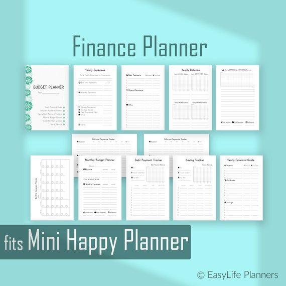 Budget Planner Printable Made To Fit Mini Happy Planner