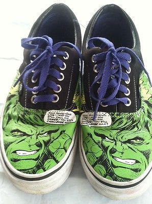 53da04f189d0da RARE Incredible Hulk Vans Size 9 Mens Womens Size 10 1 2 in Excellent  Condition