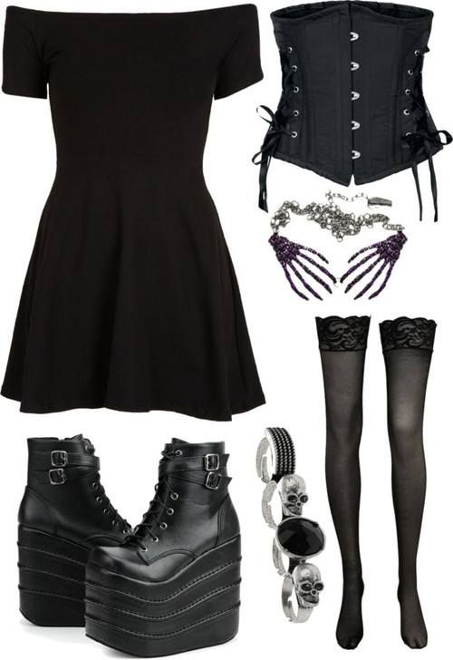 goth fashion ����� rebelsmarket gothic daytime�outfits