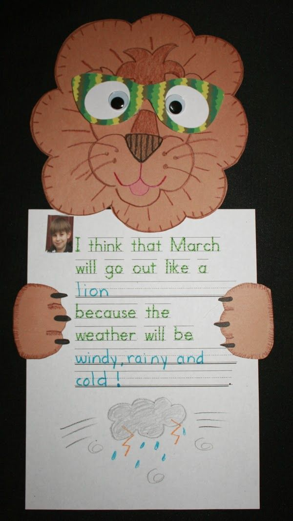 In Like a Lion...Out Like a Lamb | Spring, Miss kindergarten and ...