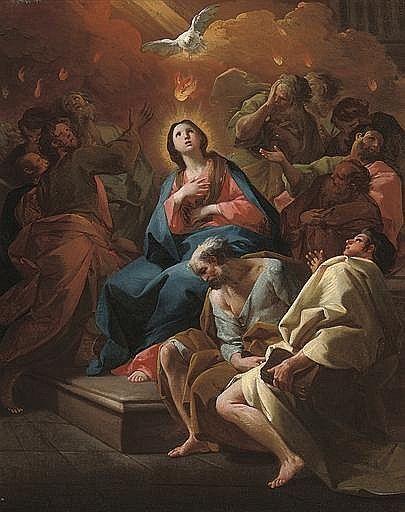 El Pentecostés: un bozzetto Antonio González Velázquez