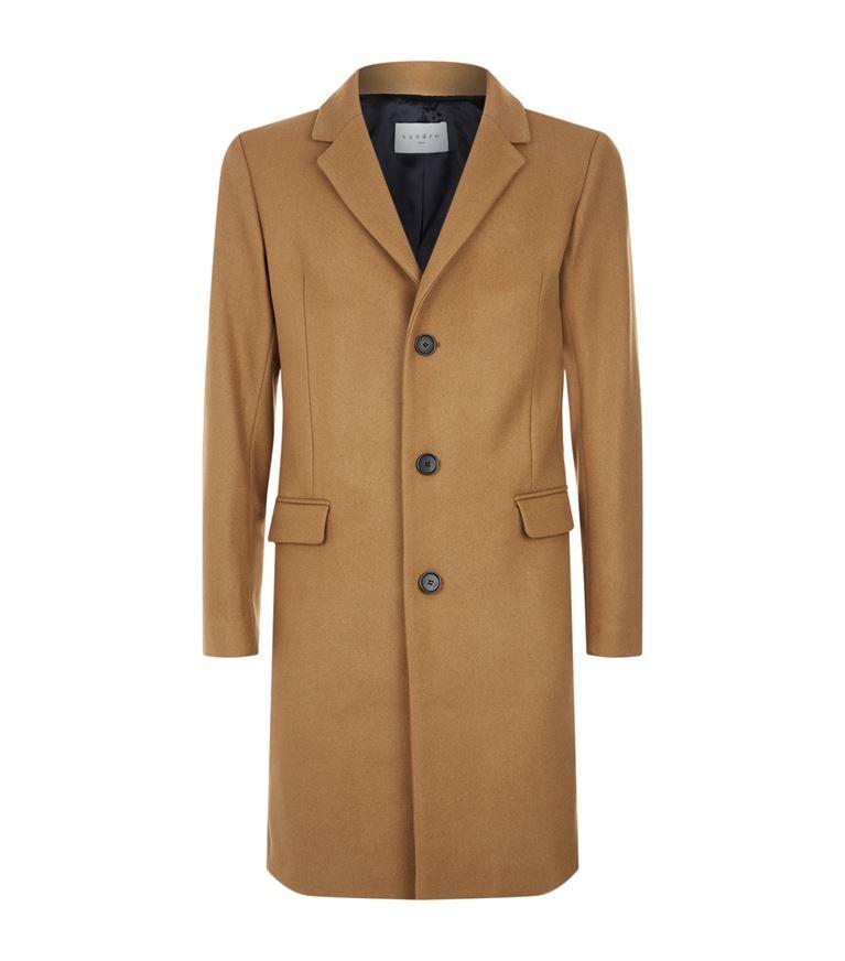 12a4863364b387 SANDRO Single-Breasted Flannel Coat.  sandro  cloth