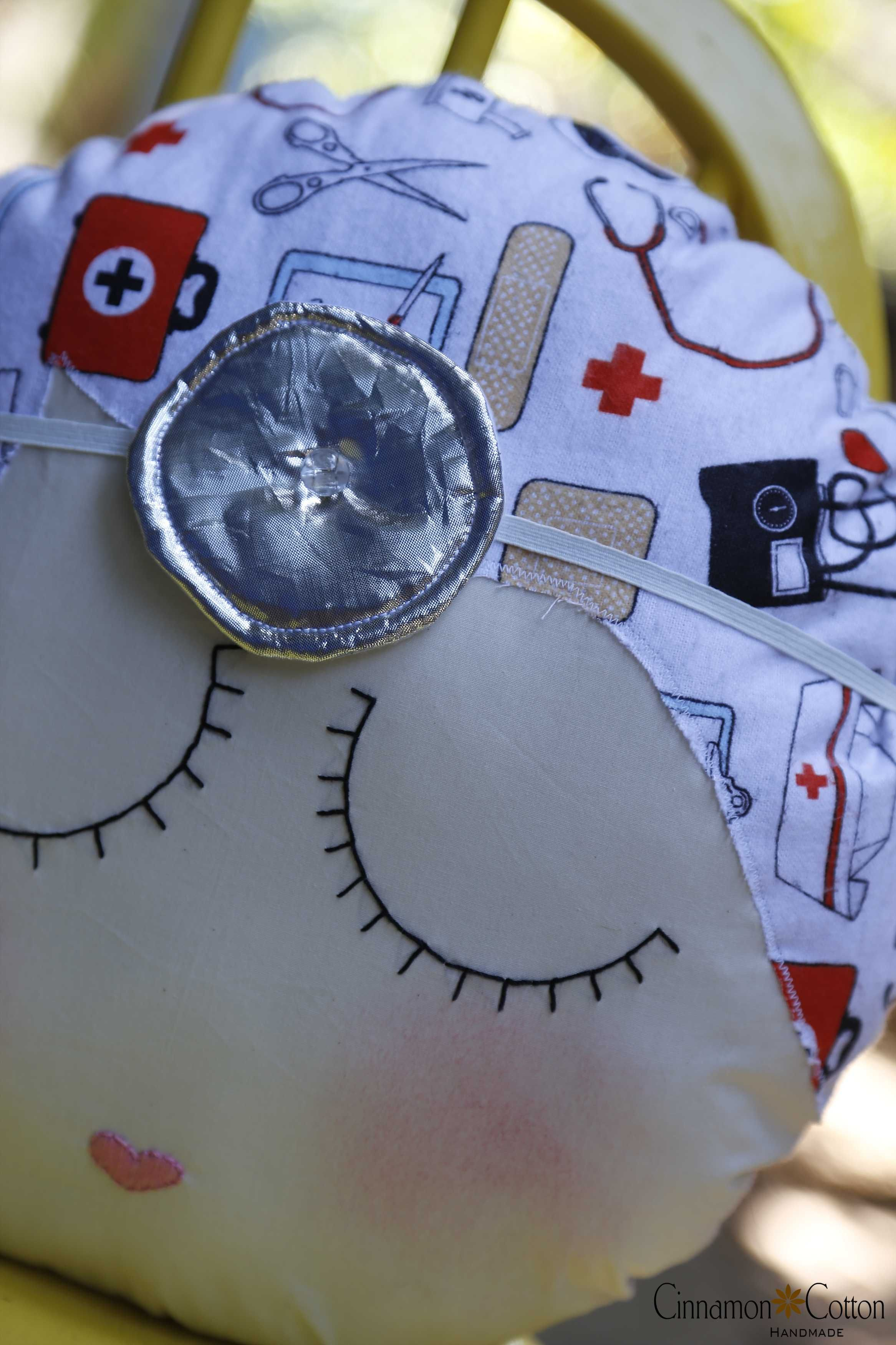 doctor face pillow