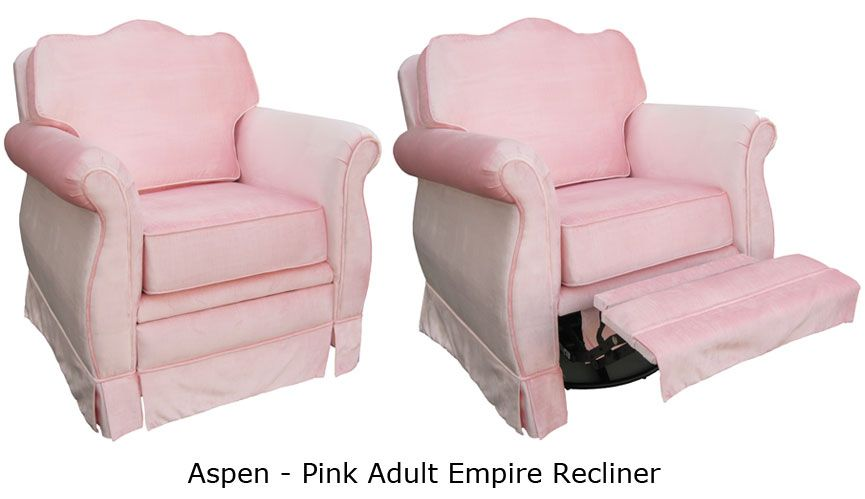 Aspen Pink Adult Empire Recliner Glider Recliners Pinterest