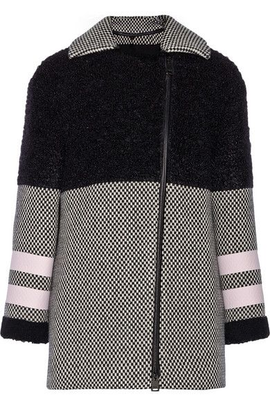 Fendi Shearling, Wool and Mohair-Blend Coat 2014