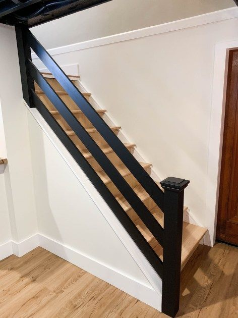 AUBURN + DAYTON BASEMENT PROJECT - CLARK + ALDINE #staircaserailings