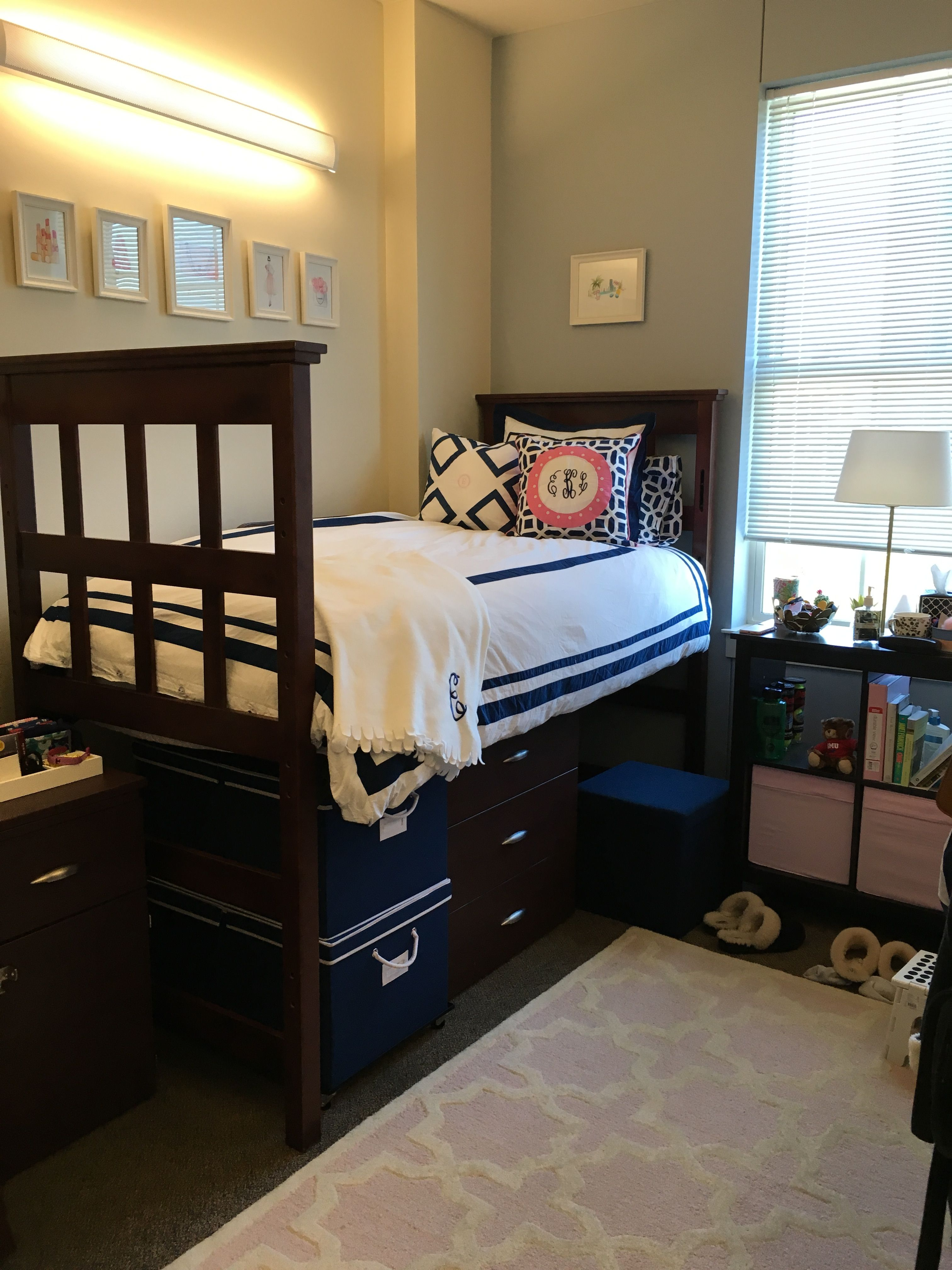 One Of The Best Tips For Creating And Organizing Your Dorm Room Is To  Safely Raise The Bed With A Set Of Strong Bed Risers, Purchase A Smart  Under Bed ... Part 97