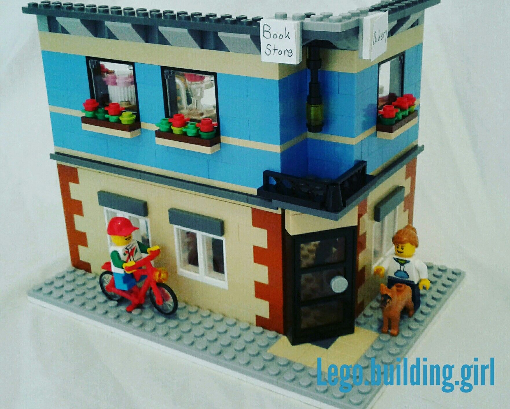 Lego corner book store and bakery