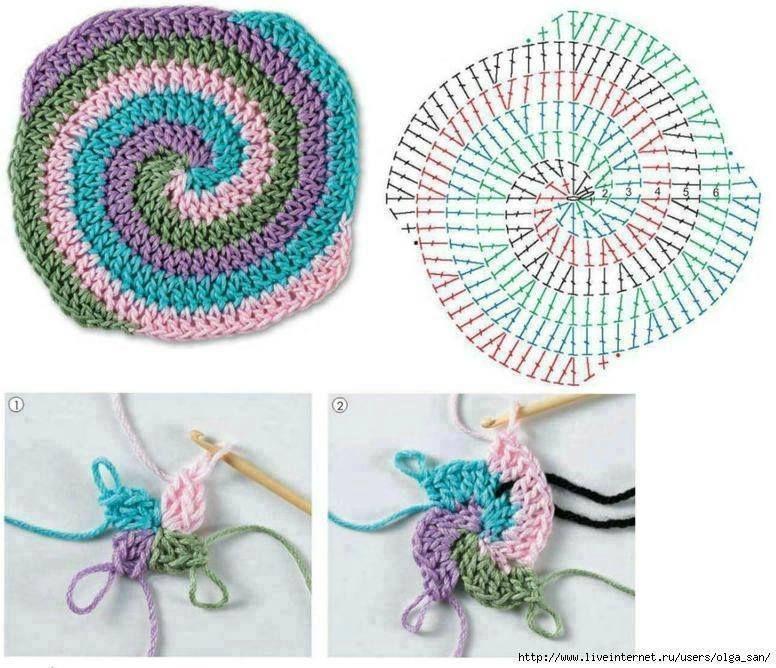Para un tejido en espiral! :D | Crochet | Pinterest | Crochet ...