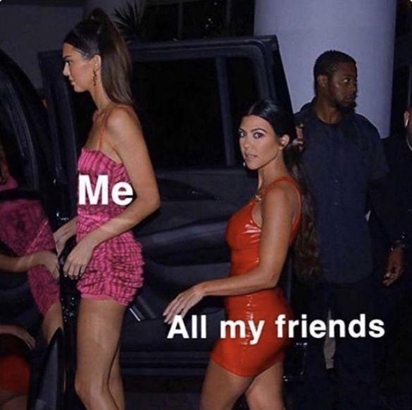 Ig Insta Instagram Lol Funny Meme Joke Kendall Jenner Kourtney Kardashian Tall Friend Short Friends Haha Car Pa Kendall Jenner Tall Kendall Jenner Tall Friends