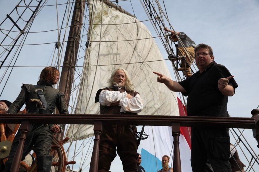 Director Roel Reine and Rutger Hauer - Admiral, Michiel de Ruyter.