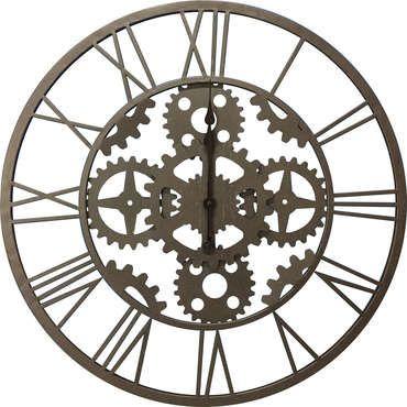 Horloge rouage coloris gris pas cher c 39 est sur large choix prix discount et for Recherche pendule murale