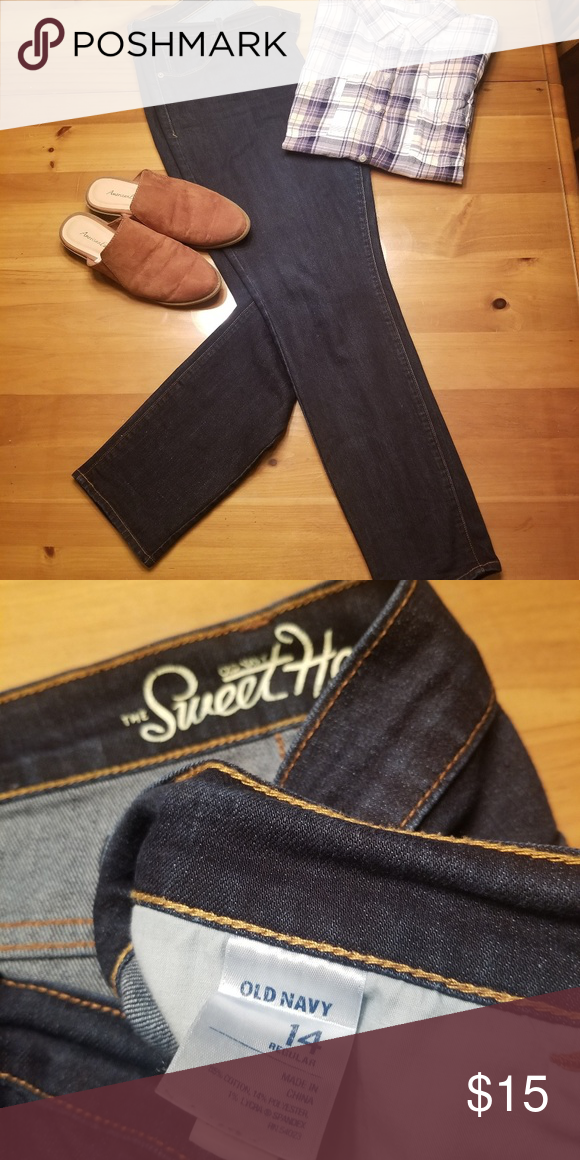 Old Navy Sweetheart Jeans Dark old navy sweetheart jeans